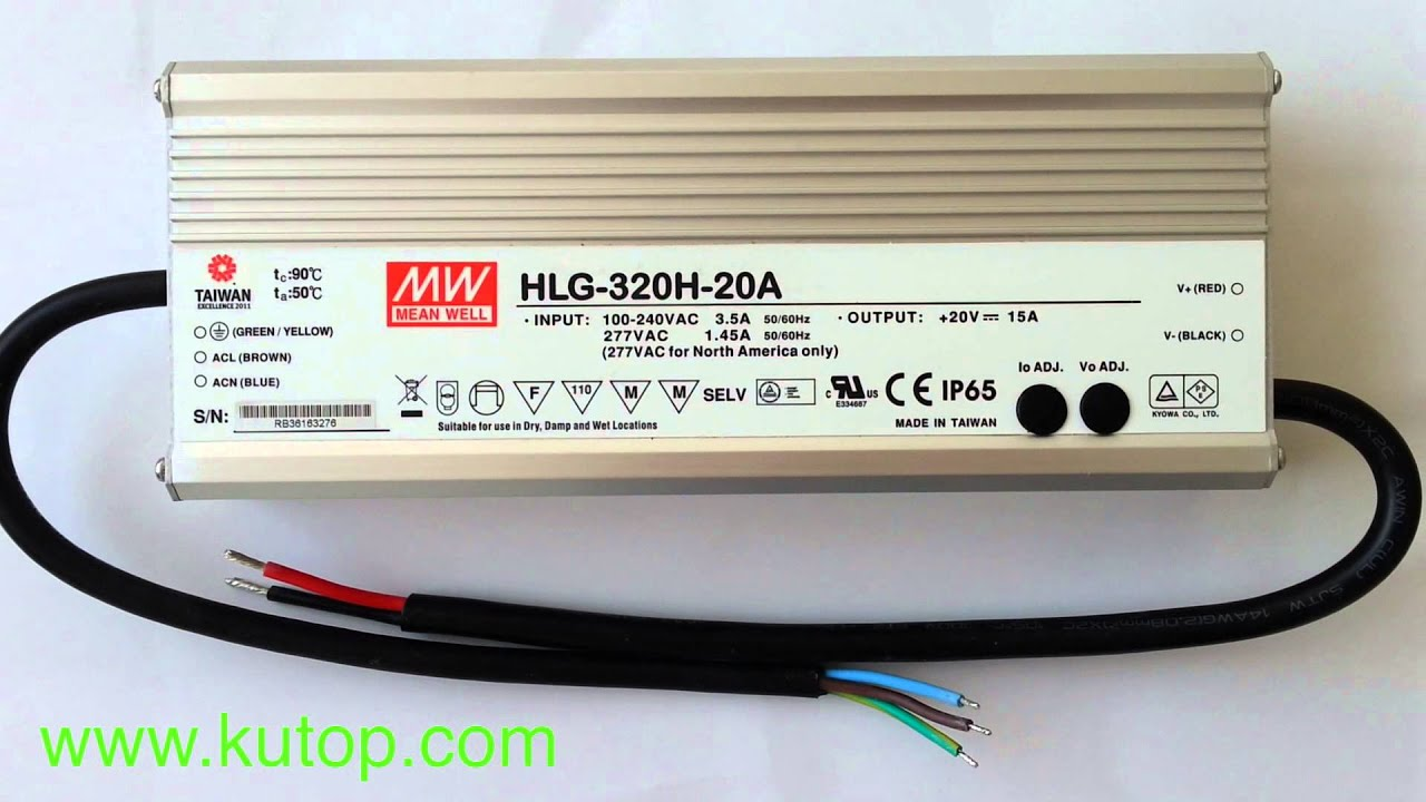 Meanwell hlg 320h 20a dimmable waterproof led driver kutop meanwell hlg 320h 20a dimmable waterproof led driver kutop youtube asfbconference2016 Gallery