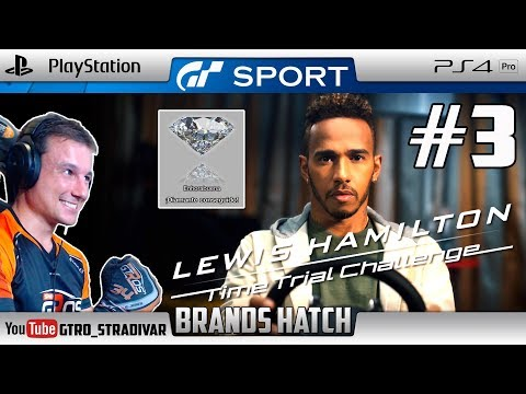 GT SPORT - LEWIS HAMILTON TIME TRIAL #3 - BRANDS HATCH | GTro_stradivar