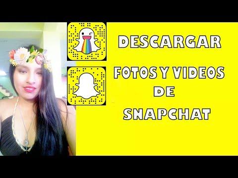 Como descargar fotos y vídeos de Snapchat