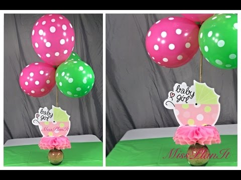 Diy quick tip dollar store baby shower center piece for for Baby shower decoration store