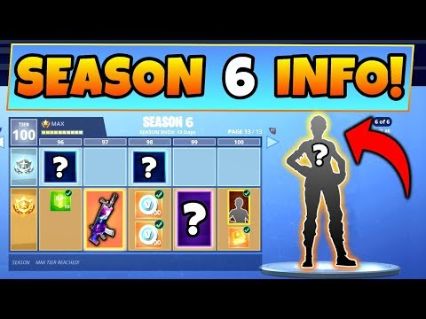 Fortnite SEASON 6 BATTLE PASS! – 8 Details We Know! (Battle Royale Skins + Update Info)