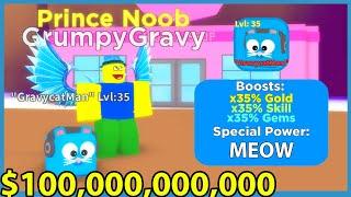 Creators Made Me A Pet! I Unlocked Max Skill Power & 100 Billion Coins! Roblox Noob Simulator 2