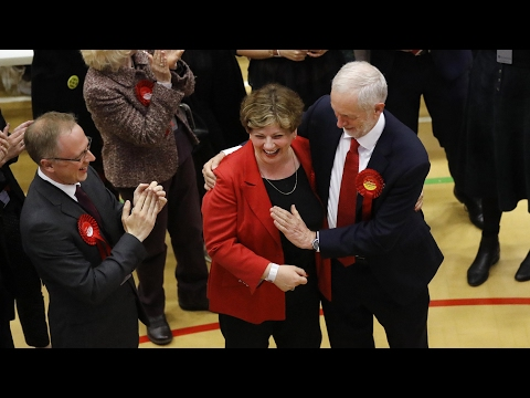 Corbyn celebrates great election night with one of worst high fives of all time