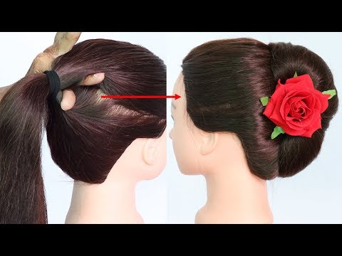 1 minute french bun trick || french roll || french twist || french roll hairstyle || hairstyle