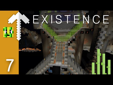 A little look UNDERGROUND   Minecraft Existence Server Let's Play Episode 7
