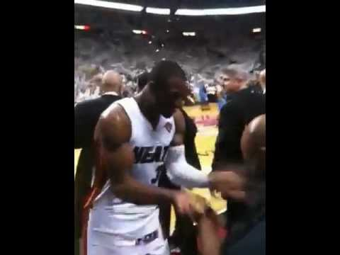 LeBron celebrates 2012 championship and hugs coach spo