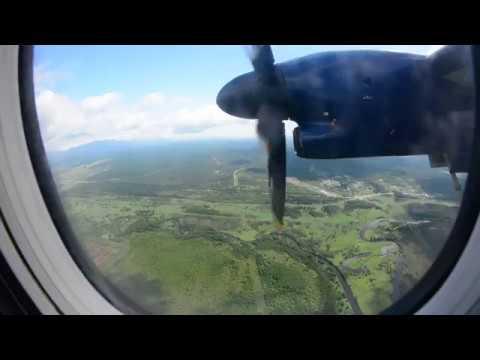 機窓新千歳>ユジノサハリンスクHZ4537便 コルサコフ大泊過ぎからホムトボ空港着陸シーン右窓