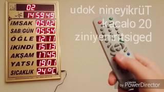 Vakitmatik Cami Saati Ayarlaması Camimarket.com 2017 Video