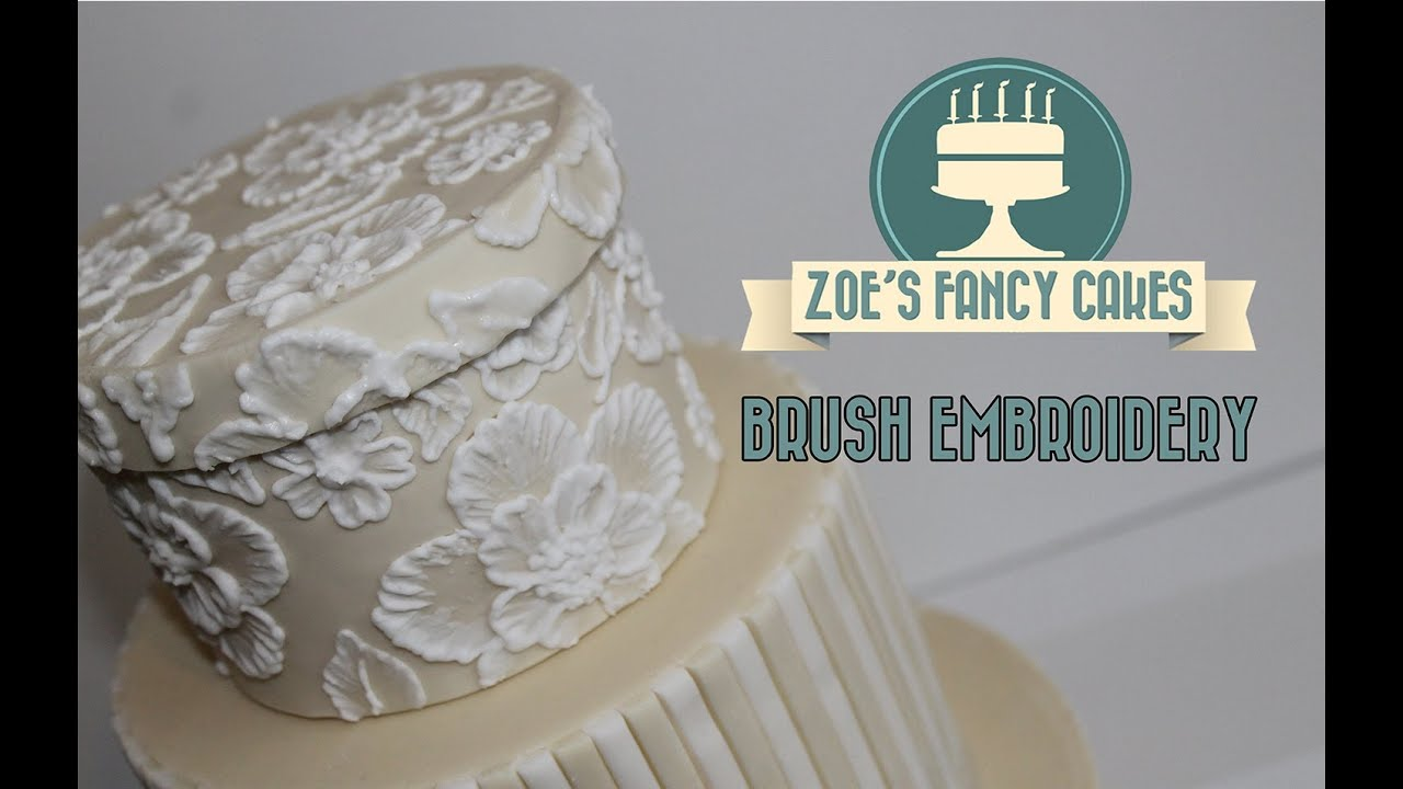 How to brush embroidery cake decorating tutorial