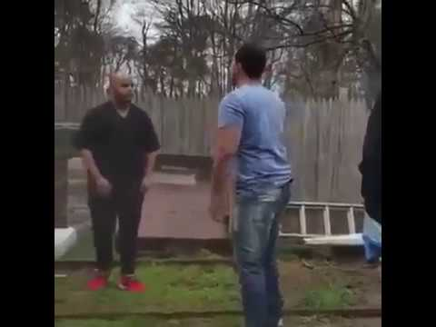Guy gets his jaw broken in fight