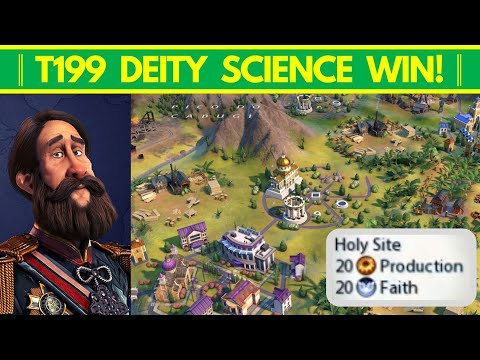 20-Production Holy Sites & My First Sub-200 Turn Science Victory!│Civ VI: New Frontier│Intro  