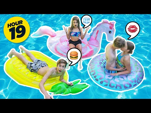 LAST TO LEAVE THE SWIMMING POOL WINS **FUNNY CHALLENGE**😂🌊 | Sawyer Sharbino