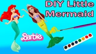 DIY Mermaid Barbie Mini Doll The Pearl Princess Custom Craft Disney Little Mermaid Inspired Video