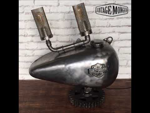 Recycle Design Harley Davidson Gas tank lamp by Vintage Monger