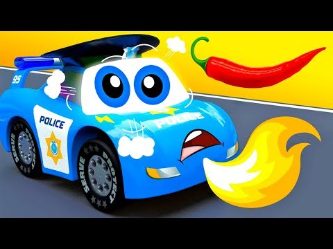 Officer Max makes a BIG FIRE - City of Little Cars Funny Stories