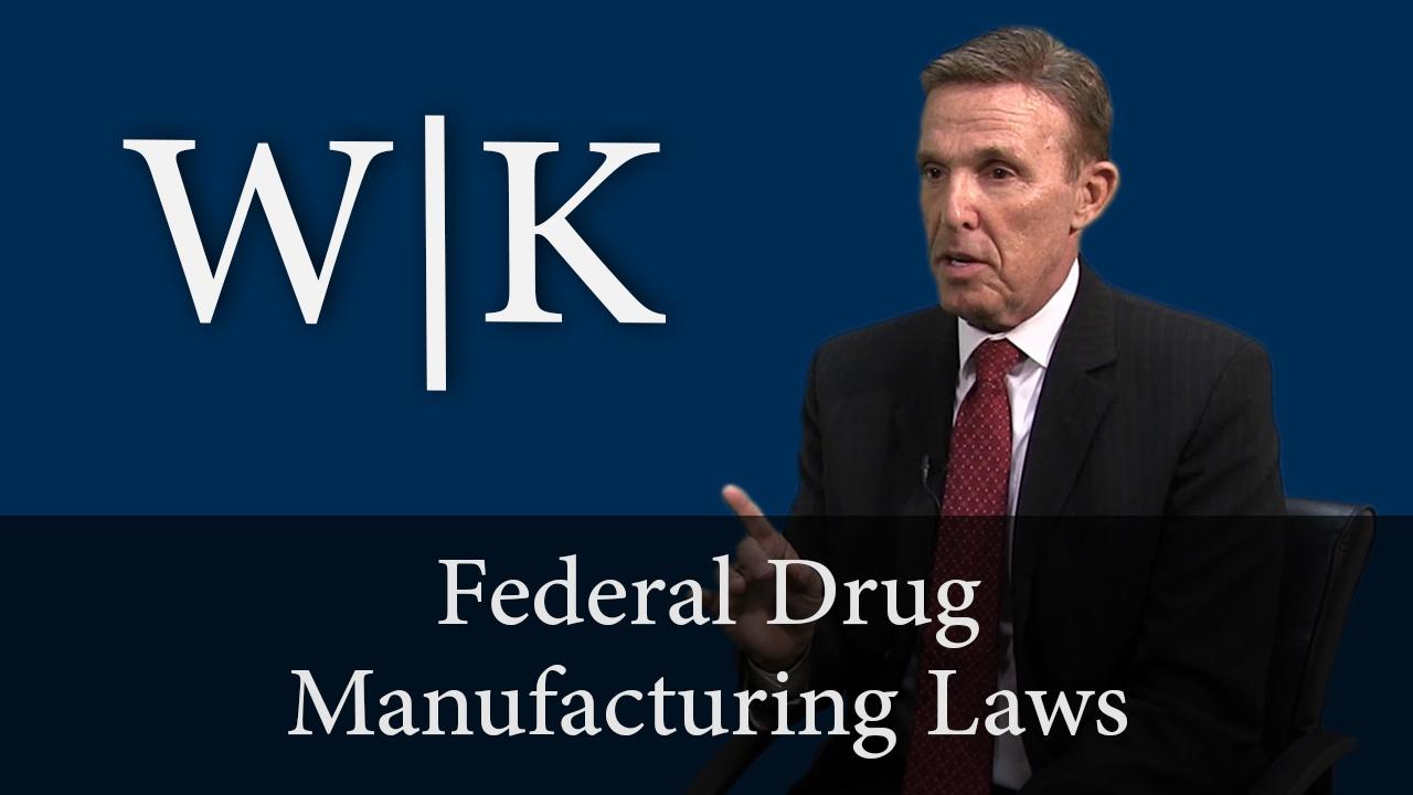 Federal Drug Manufacturing Laws: 21 USC 841
