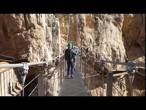 Crossing the Bridge  - Caminito de Rey Experience