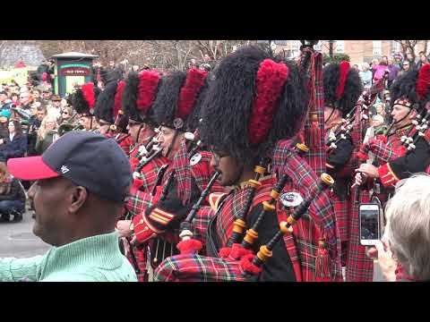 2017 Scottish Christmas Walk - Pipes and Drums Concert Alexandria, Va