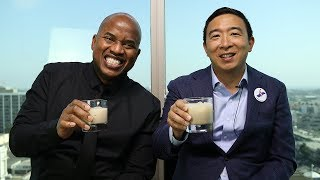 Robot bartenders taking jobs! - featuring Andrew Yang
