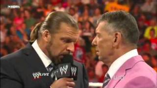Triple H returns, John Cena Stays & Vince McMahon Gets Fired  - WWE RAW 7-18-11 (HD)