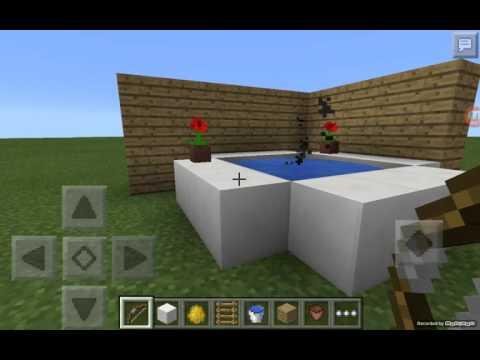 tutorial como hacer un jacuzzi funcional minecraft pe