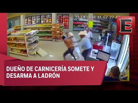Como escena de película, frustran asalto en carnicería de Nuevo León
