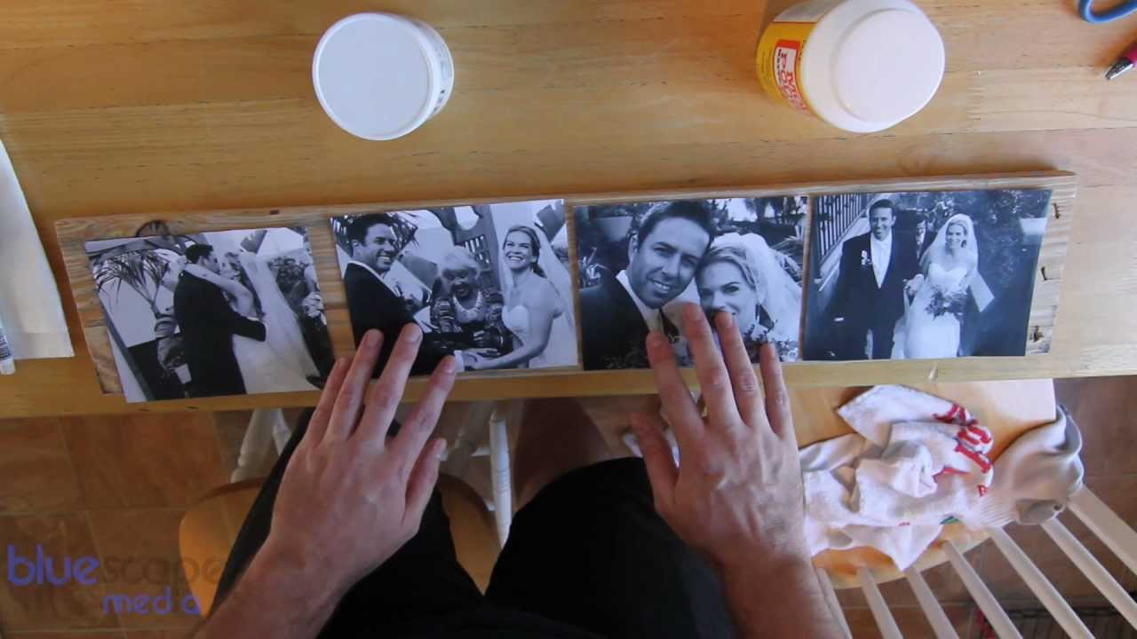 How to print pictures on wood. Wax Paper