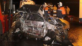 Смотреть видео В жутком массовом ДТП с автобусом под Тулой погиб один человек онлайн