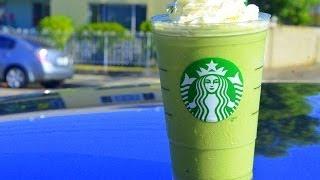 How To Make Starbucks Green Tea Frappuccino สตาร์บัค กรีนที แฟรบปูชิโน่