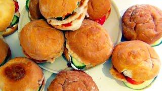 Готовим простые домашние Бургеры видео рецепт
