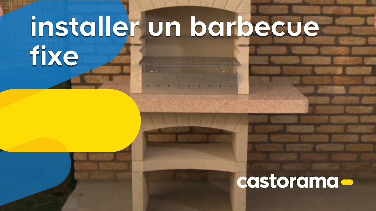 installer un barbecue fixe castorama youtube. Black Bedroom Furniture Sets. Home Design Ideas
