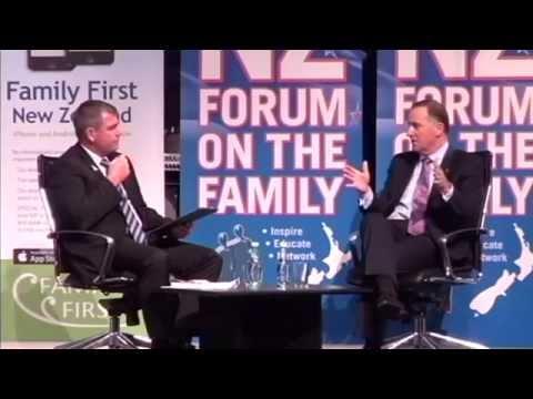John Key interviewed by Bob McCoskrie - Forum on the Family 2014
