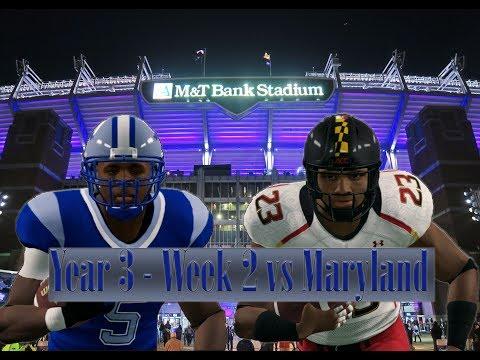 NCAA Football 14 Baltimore State Dynasty Year 3 - W2 vs Maryland Franklin Jones Era Begin