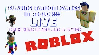 Playing Random Games in Roblox!!!!!! withDrako675