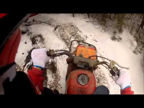 Newtonville Ontario in December on my trike