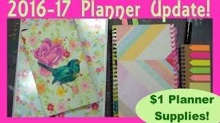 Gambar cover 2016-17 Planner Update W/ Dollar Tree Supplies!