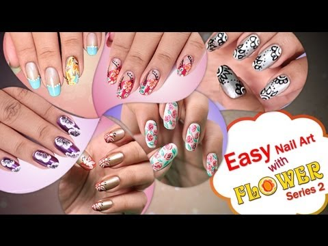 Easy nail art with flower series 2 do it yourself khoobsurati easy nail art with flower series 2 do it yourself khoobsurati solutioingenieria Image collections