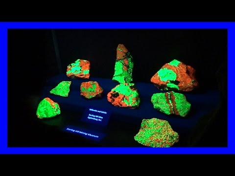 AMAZING FLUORESCENT MINERAL DISPLAY