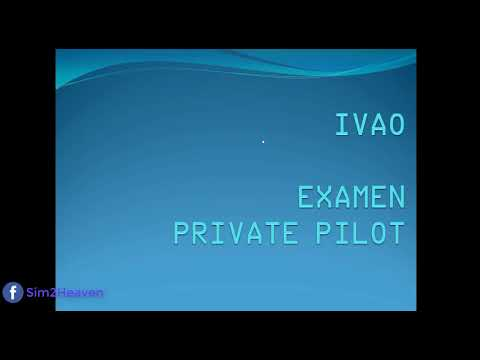 [IVAO] PP Examen Private Pilote IVAO