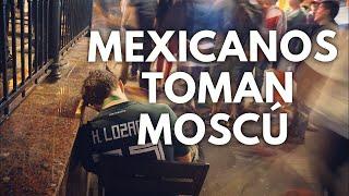 CELEBRACIÓN MEXICANA EN MOSCÚ TRAS VENCER A ALEMANIA
