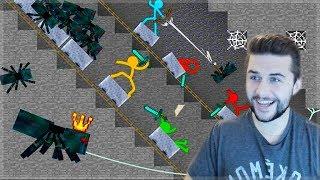 REACTING TO AMAZING ANIMATION Vs MINECRAFT!! - STICKMEN Vs SPIDER QUEEN Minecraft Animation