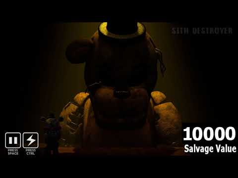(FNAF SFM) Withered Golden Freddy Salvage