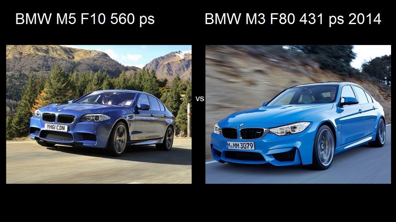 Bmw M3 F80 2014 Vs Bmw M5 F10 Acceleration 0 240 Kmh Drag Razgon