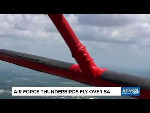 Thunderbirds fly over San Antonio