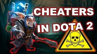 Dota 2 Cheater - Meepo using Rune Hack, scripts + Camera cheat!