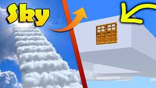 MINECRAFT: HOW TO BUILD A HOUSE IN A CLOUD - LIVE INSIDE A CLOUD - TUTORIAL