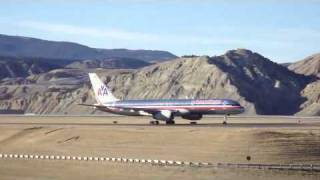 American Airlines  Boeing 757 Landing Eagle Colorado