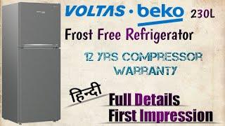 VOLTAS-beko 230L Double Door Refrigerator Unboxing amp First Impression