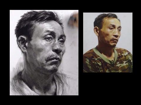 Old Man Portrait Drawing Pencil