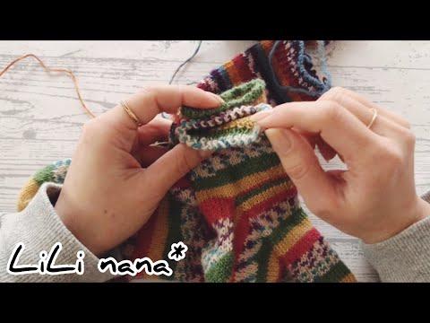 編み物をしながらおしゃべり♪靴下を編む☆